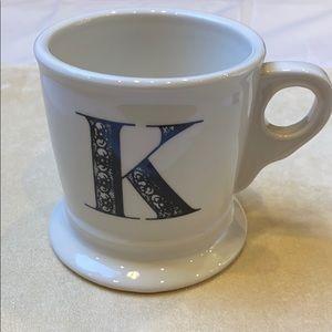 """Anthropology Initial """"K"""" Mug"""